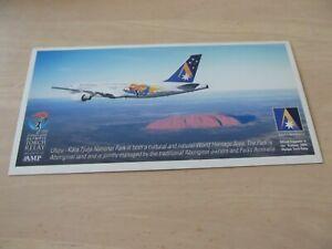 Airline Issue ANSETT AUSTRALIA Sydney 2000 Olympics Airbus A320 postcard VH-HYN