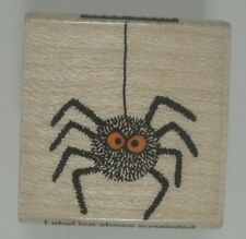 Scary Spider Wood Mounted Rubber Stamp, Hero Arts, A315, Halloween, Insect, Bug