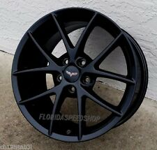 "18/19"" Gloss Black Spyder Style Corvette Wheels FITS: 2006-2013  Z06/GRAND SPORT"
