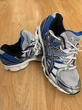 Correr Mens Asics Gel Nimbus 12 Gimnasio Entrenadores Azul Negro Blanco UK 8 nos 9 EU 42.5
