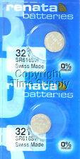 2 pcs 321 Renata Watch Batteries SR616SW SR616 0% MERCURY