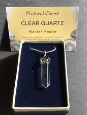 Clear Quartz Double Terminated Silver 925 Pendant And Chain Gift Boxed Healing