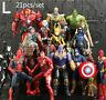 Avengers 3 Captain America Iron Man Hulk Tree Man Action Figure Marvel 21pcs/set