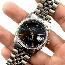 1996 ROLEX Datejust Ref. 16234 18K Gold Bezel Quickset Jubilee No Holes Watch