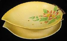 Carlton Ware Yellow Embossed Apple Blossom Strainer Bowl & Tray