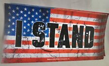 WHOLESALE LOT OF 20 I STAND FOR FLAG NATIONAL ANTHEM BUMPER STICKER TRUMP USA US