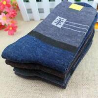 1/2/5 Pairs Men's Thermal Wool Cashmere Casual Sport Winter Warmer Dress Socks