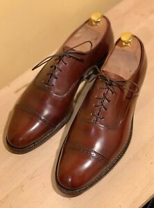 Church's The Curzon For Brooks Brothers Brown Captoe Oxford US 9 C