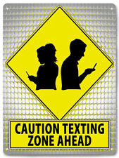 TEXTING funny metal street sign great gift for teens room retro style art 554