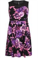 Kleid Gr.54/56 Sommerkleid Blüten Mesh Netzeinsatz Kurzkleid Blüten Minikleid Pa