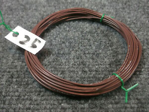 20 GAUGE BROWN HOOKUP WIRE, Silver plated Copper, Teflon sheath **QTY=25 feet**