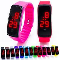 Kinder LED Uhr Digitaluhr Silikon Sport Casual Armbanduhr zac 01