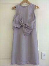 Rachel Antonoff Baby Bow Dress Lavender Tussar Silk Size 2 / XS RRP $342