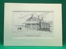 Charley Krone Pen & Ink Sketch of Maytown School, Pennsylvania-7 Lively Artists