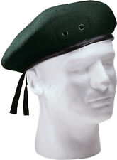 Classic Wool Military Beret - with Eyelets Army Warm Winter Hat