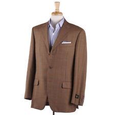 NWT $2295 BELVEST Brown-Orange Windowpane Check Wool Sport Coat 40 R