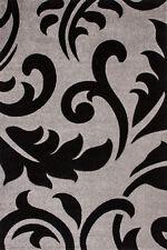 Tapis Tapis moderne neuf emballage d'origine floral SOLDES gris noir 120x170