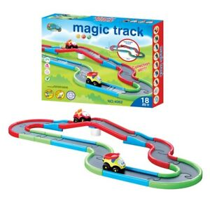 KIDS TRACK SET FLEXIBLE RACE CARTOON DIY TRACK CAR RACING FUN TOY FOR CHILDREN