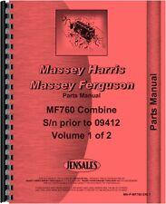Massey Ferguson 760 Combine Parts Manual (Sn)