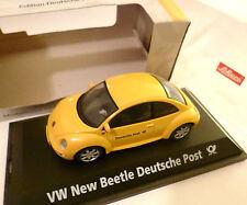 """VOLKSWAGEN VW NEW BEETLE """"Deutsche Post"""", Schuco/post negozio in 1:43 Boxed!"""