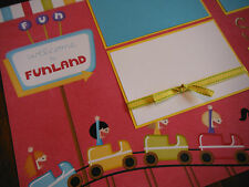 Welcome to Fun Land Roller Coaster Carnival Two 12x12 Premade Scrapbook Pages