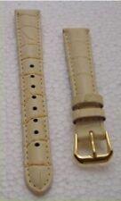 Cinturino orologio donna vera pelle bianco Panna 14 mm nuovo