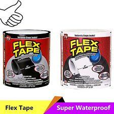 "4""x5' Flex Tape Patch Bond Super Strong Rubberized Waterproof Seal Repair"
