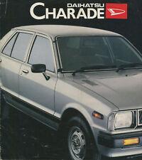 CAR BROCHURE: DAIHATSU CHARADE - 1980s (INCLUDES XG, XTE & DAIMATIC)