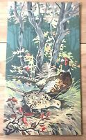 VTG Paint by Number ART Painting WOODLAND Pheasants in Autumn 18x10