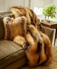 NWT Donna Salyers Fabulous Stunning Faux Fur Limited Edition Red Fox Throw 60x72