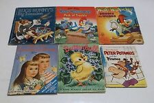 SIX VINTAGE CHILDREN'S BOOKS Woody Woodpecker Bugs Bunny HC/Circa1950's/60's - R