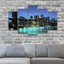 110x60 cm-Kit 5 TABLEAU IMPRIMEE-MODERNE DECORATION MURALE - NEW YORK-03
