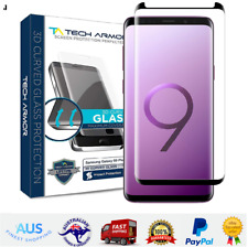 Samsung Galaxy S9 Plus Glass Screen Protector Tech Armor 3D Curved Ballistic