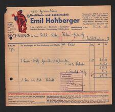 MÜHLHAUSEN, Rechnung 1936, Emil Hohberger Konfitüren-Bonbon-Fabrik