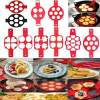 Nonstick Pancake Maker Mould Silicone Omelette Egg Ring Mold Kitchen Cooking