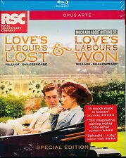 Royal Shakespear Company Love's Labour's Lost and Won Bluray Blu-ray NEW box
