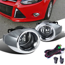 For Ford Focus 2012-14 Foglights Lamps + Chrome Grille Cover + Wiring Harnes Set
