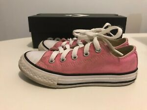 CONVERSE All Star Youth Size 12 US / AU Pink Low Tops Sneakers