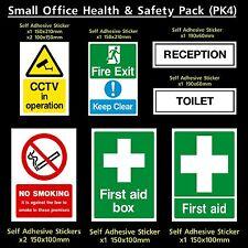 le tabagisme Health /& safety pack-Fire CCTV PK4 WC-PLASTIQUE Signe Autocollant