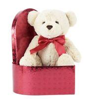 "Way To Celebrate Valentine's Day Bear Plush Chocolate Scented Gift Box 9.2""x12.5"