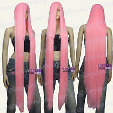 130cm Light pink Hi_Temp Series 55cm Extra long Bang Cosplay Wigs 99_LLP