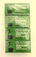 4 Packs DIETERS' DRINK Bebida Dietetica Natural Leaf Brand Weight Loss Slim Tea