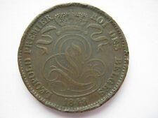 Belgium 1848/38 copper 10 Centimes F edge knocks