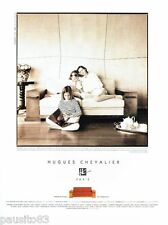 PUBLICITE ADVERTISING 126  1996  Hugues Chevalier canapé Dominique  cuir & sycom
