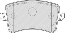 Rear Brake Pad Set Fits Audi OE 8K0698451 Ferodo FDB4190