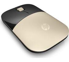 BRAND NEW HP Z3700 WIRELESS MOUSE 2.4GHz SLIM DESIGN GOLD