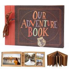 DIY Vintage Photo Album Scrapbook Our Adventure Book Memory Birthday Anniversary