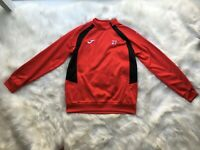 Joma Sports Red Black Pullover 1/4 Zipper Top Fleece Lined