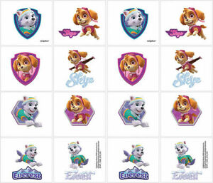 Paw Patrol Pink Girls Temporary Tattoos Birthday Party Favors Supplies ~ 2 Sheet