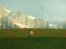 Siepe verde con fiori rossi per plastico o diorama cm. 50 X 2 - Krea Modellismo